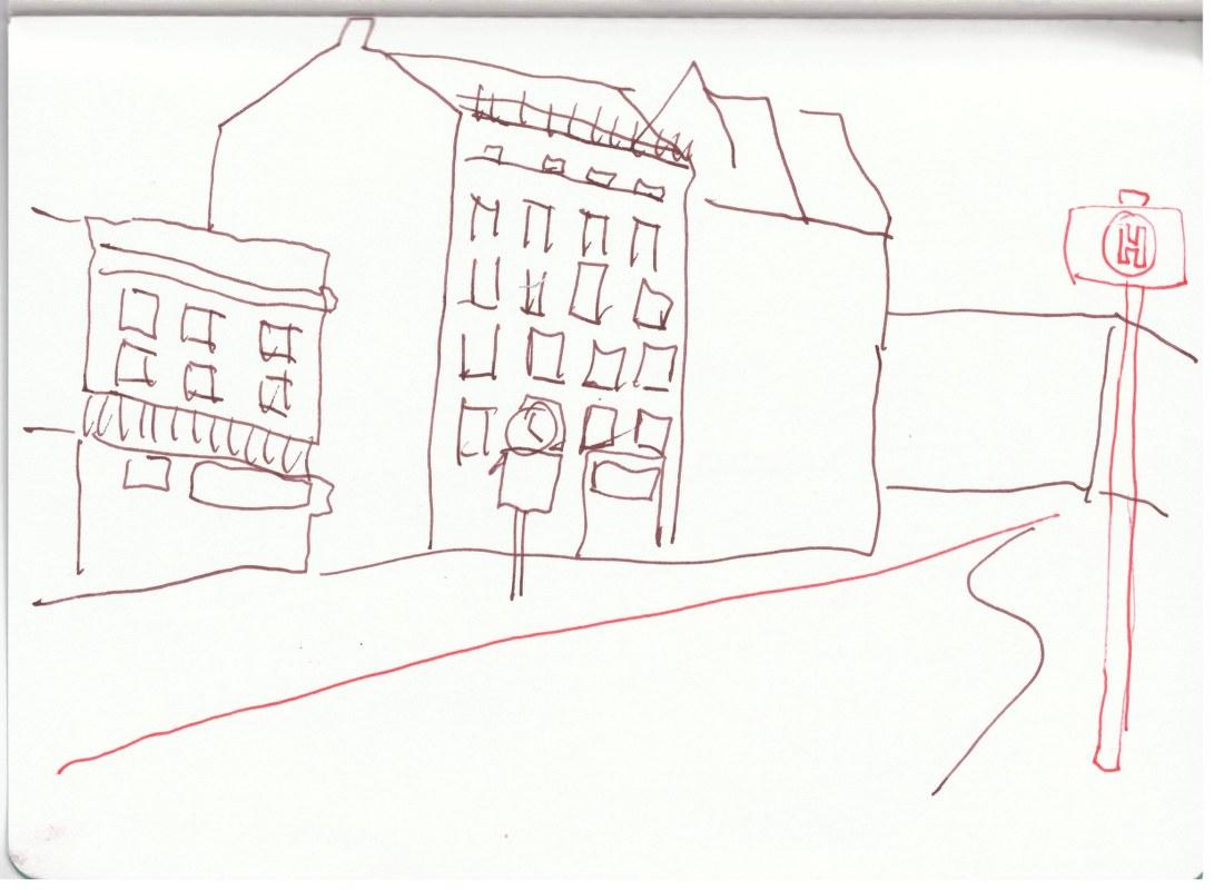 Müllerstrasse (c) Zeichnung von Susanne Haun
