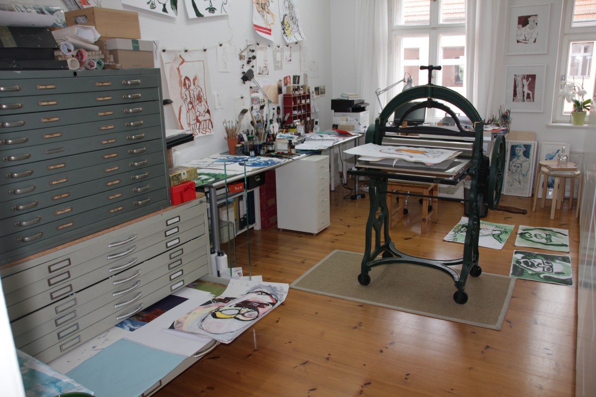 Mein Atelier am 25.9.2017 (c) Foto von Susanne Haun