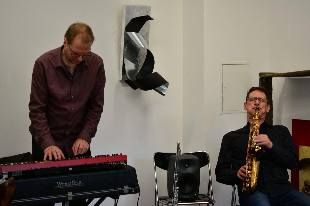 Die Musiker Frank Gratkowski und Achim Kaufmann (c) Foto von M.Fanke