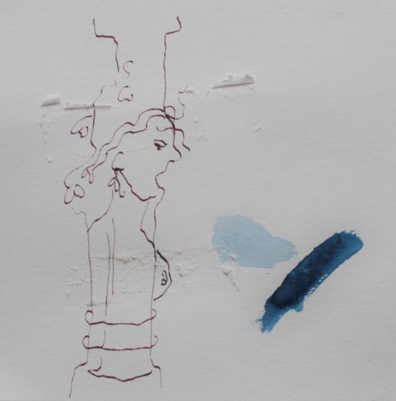 Lot und seine Frau - 1. Entwurf (c) Zeichnung von Susanne Haun