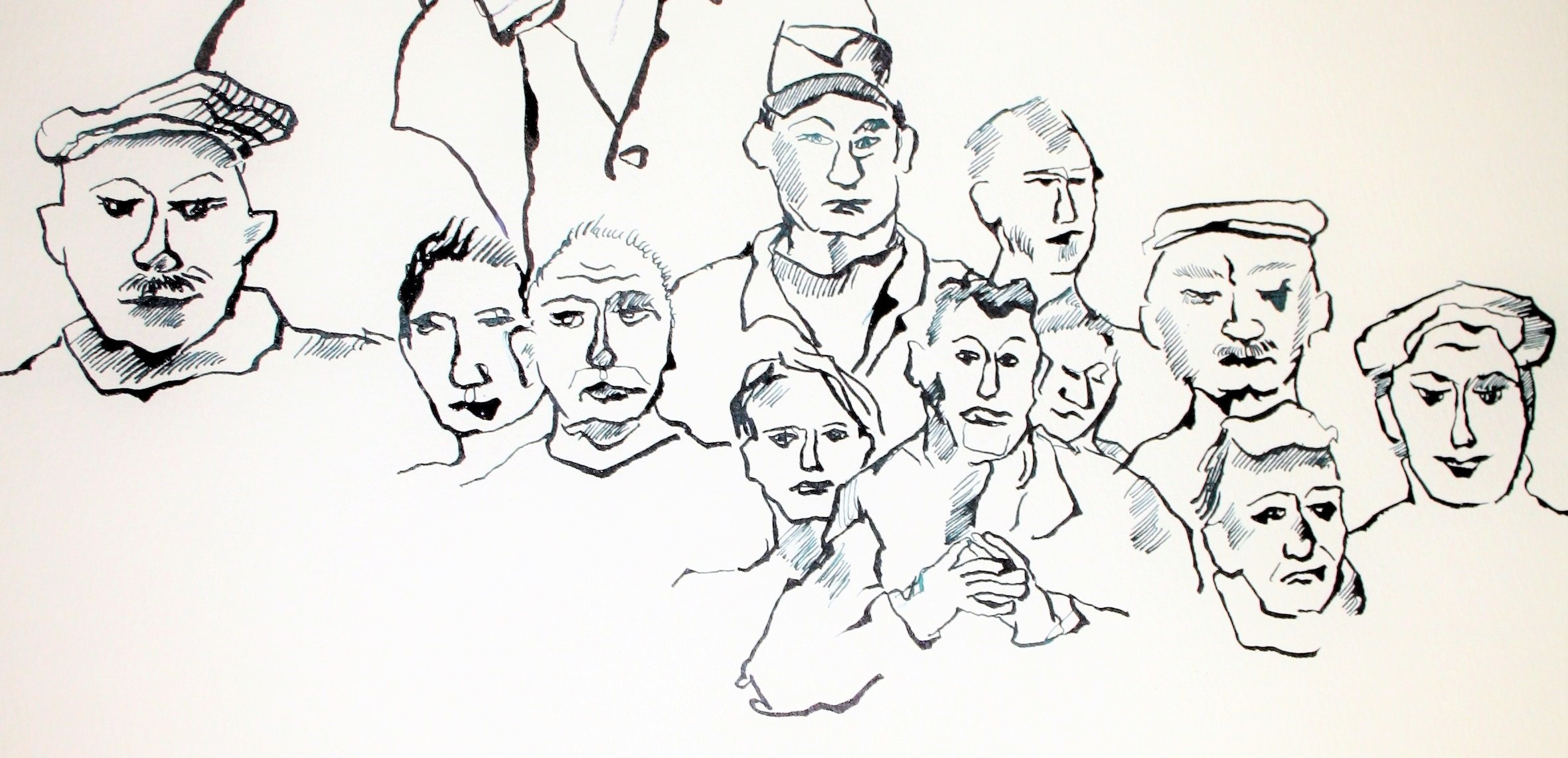 Menschenmenge (c) Zeichnung von Susanne Haun
