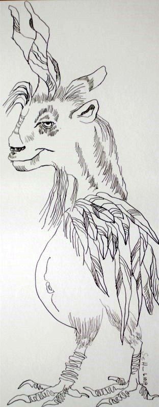 Wolperting - 50 x 20 cm - Tusche auf Aquarellkarton (c) Zeichnung von Susanne Haun