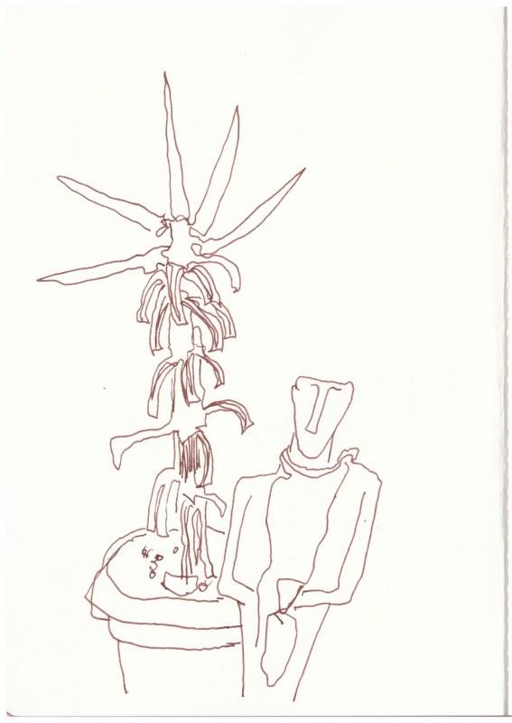 Athen - Auszug aus Gerdas Schreibtisch (c) Zeichnung von Susanne Haun
