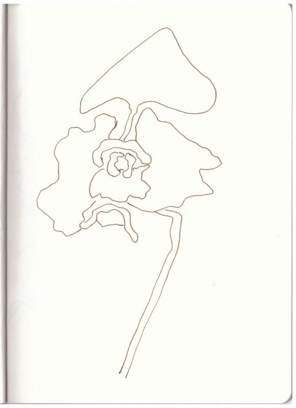 Am Poseidontempel (c) Zeichnung von Susanne Haun