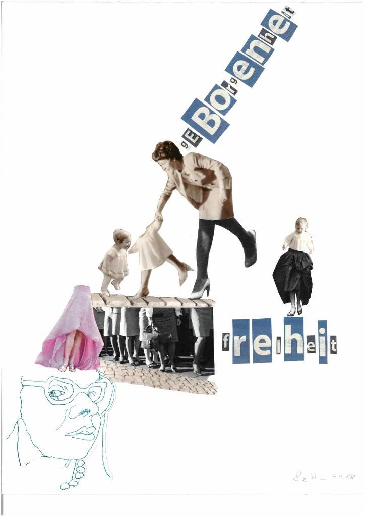 Geborgenheit und Freiheit - 30 x 40 cm - 2018 (c) Collage von Susanne Haun