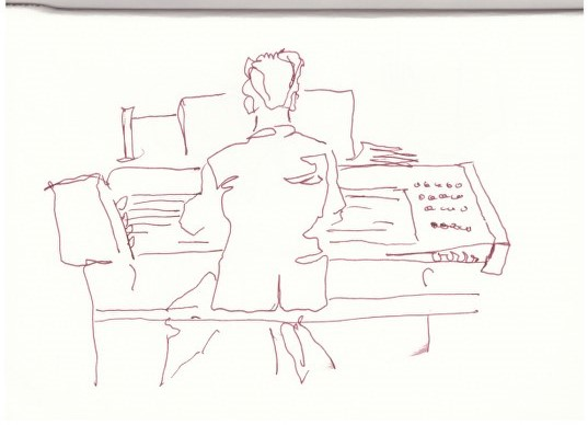 Im Konzerthaus (c) Zeichnung von Susanne Haun
