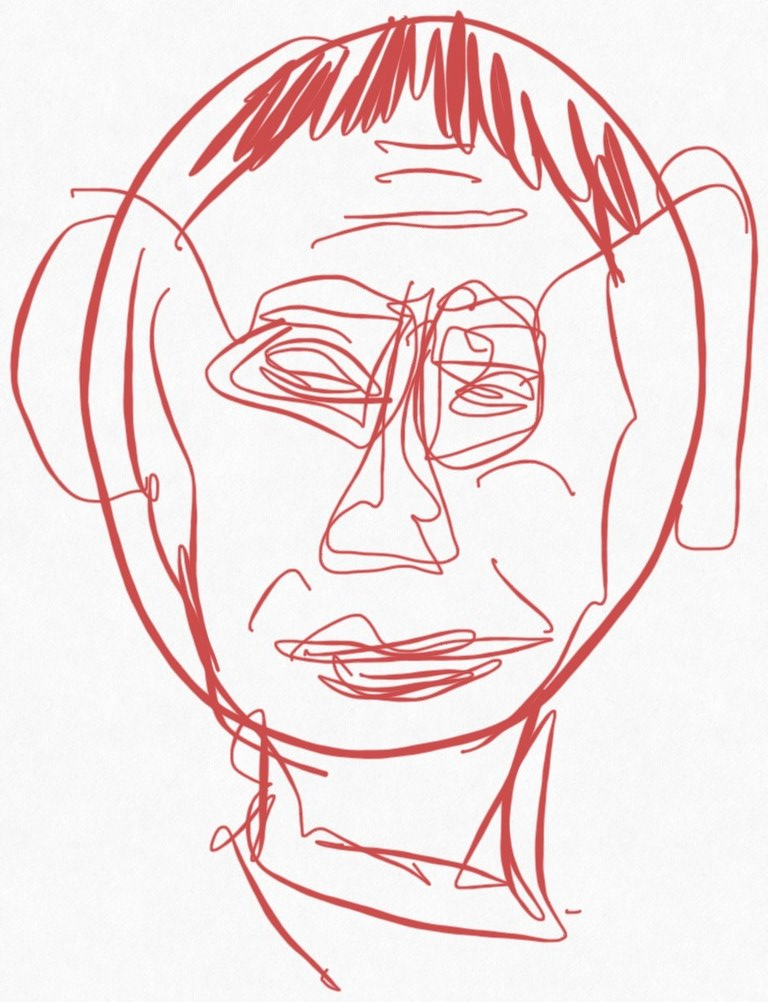 Portrait Nr. 10 (c) Zeichnung iPad von Susanne Haun