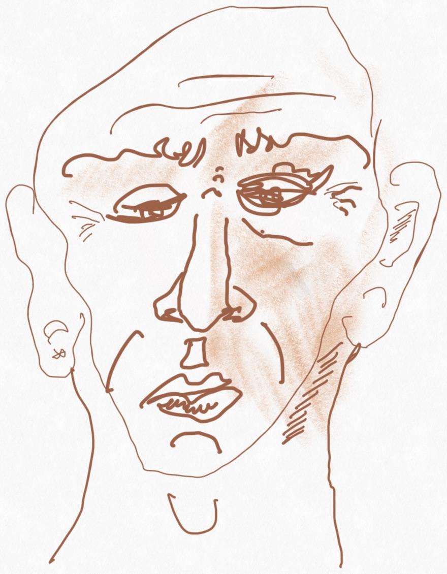 Portrait Nr. 2 (c) Zeichnung iPad von Susanne Haun
