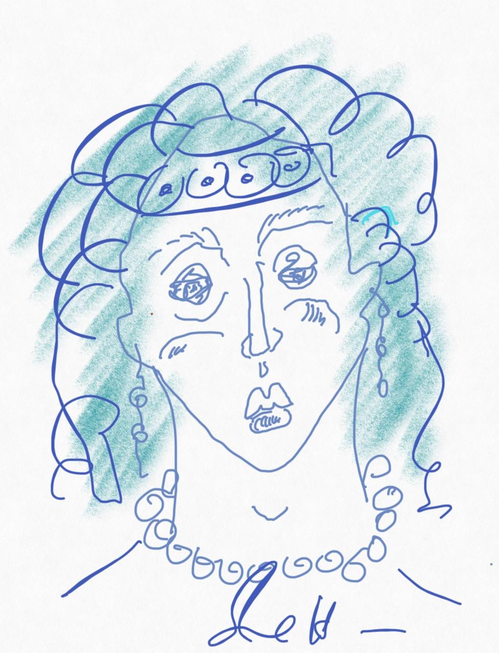 Portrait Nr. 3 (c) Zeichnung iPad von Susanne Haun