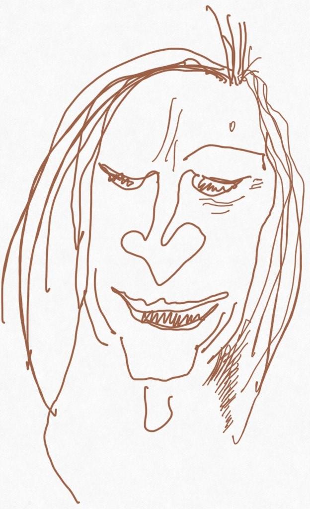 Portrait Nr. 7 (c) Zeichnung iPad von Susanne Haun