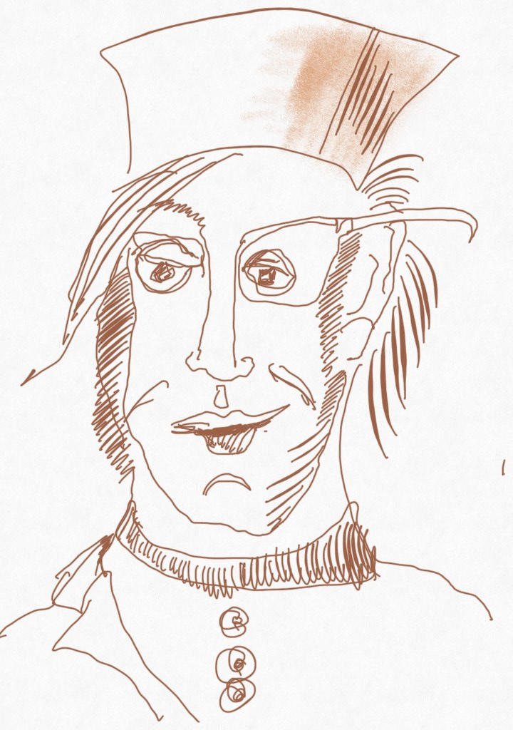 Portrait Nr. 8 (c) Zeichnung iPad von Susanne Haun
