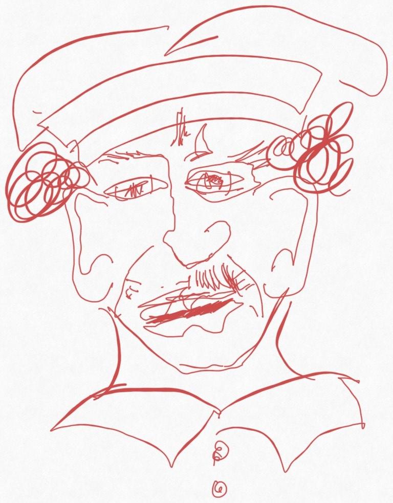 Portrait Nr. 9 (c) Zeichnung iPad von Susanne Haun