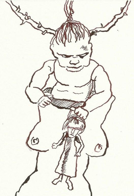 Dialog Bewusst-Sein Blatt 6 (c) Zeichnung von Susanne Haun