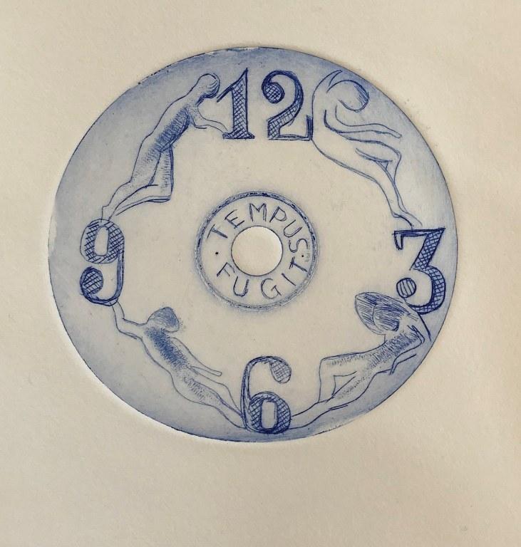Die Zeit (c) Radierung von Joachim Rees