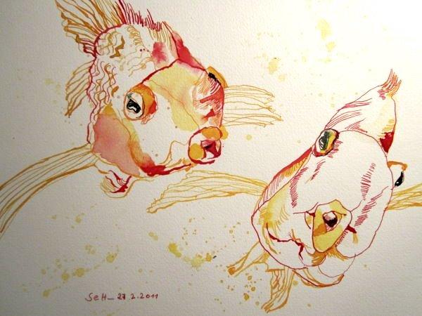 Zwei die sich gleichen (c) Zeichnung von Susanne Haun