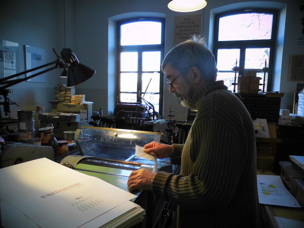 Produkltion des Ringelnatzkalenders von Hans-Hilmar Koch und Arndt Weigend (c) Hilmar Koch
