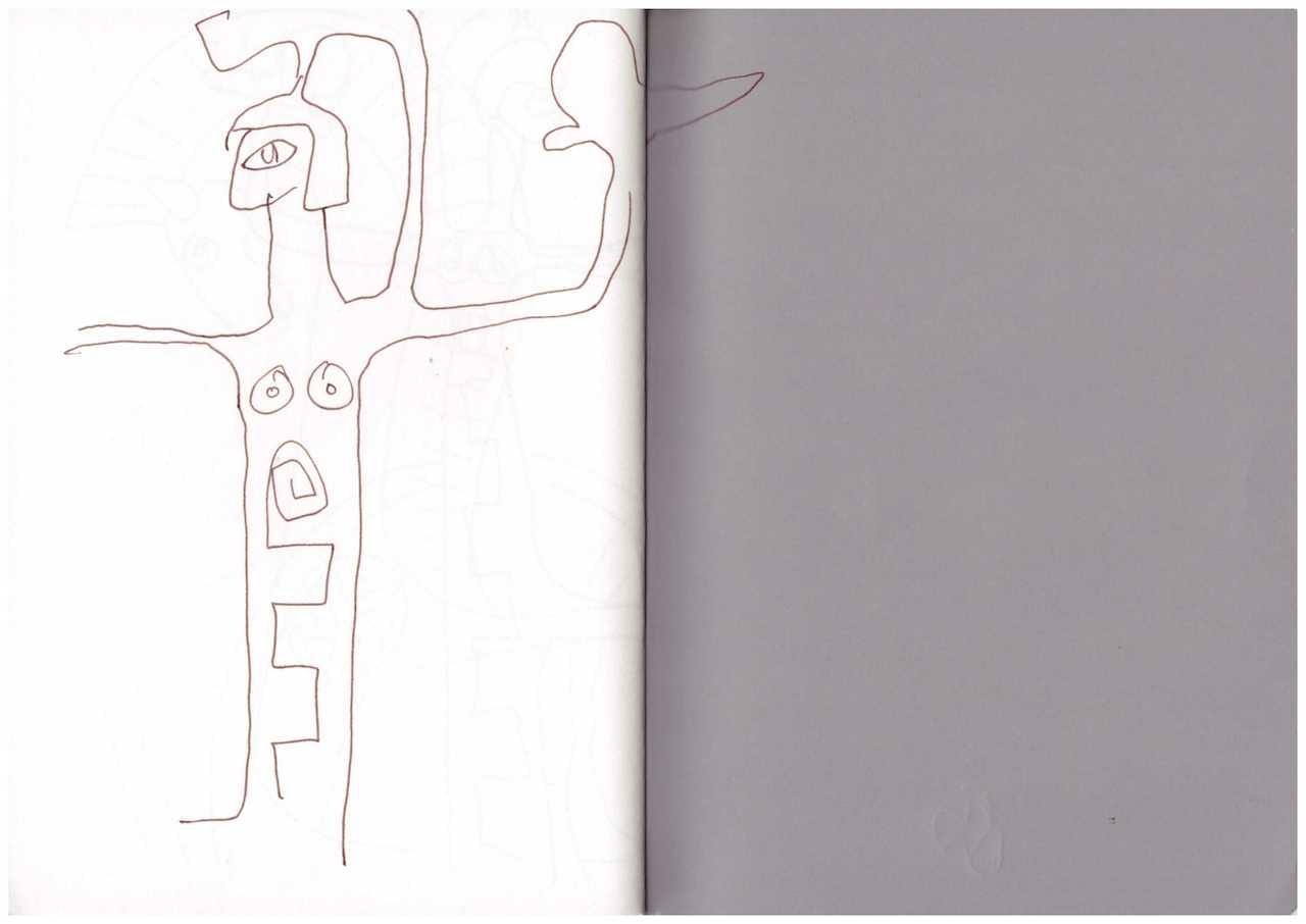 Skizzenbuch 28.7. - 26.8.18 - Athena auf dem Wagen (c) Zeichnung von Susanne Haun