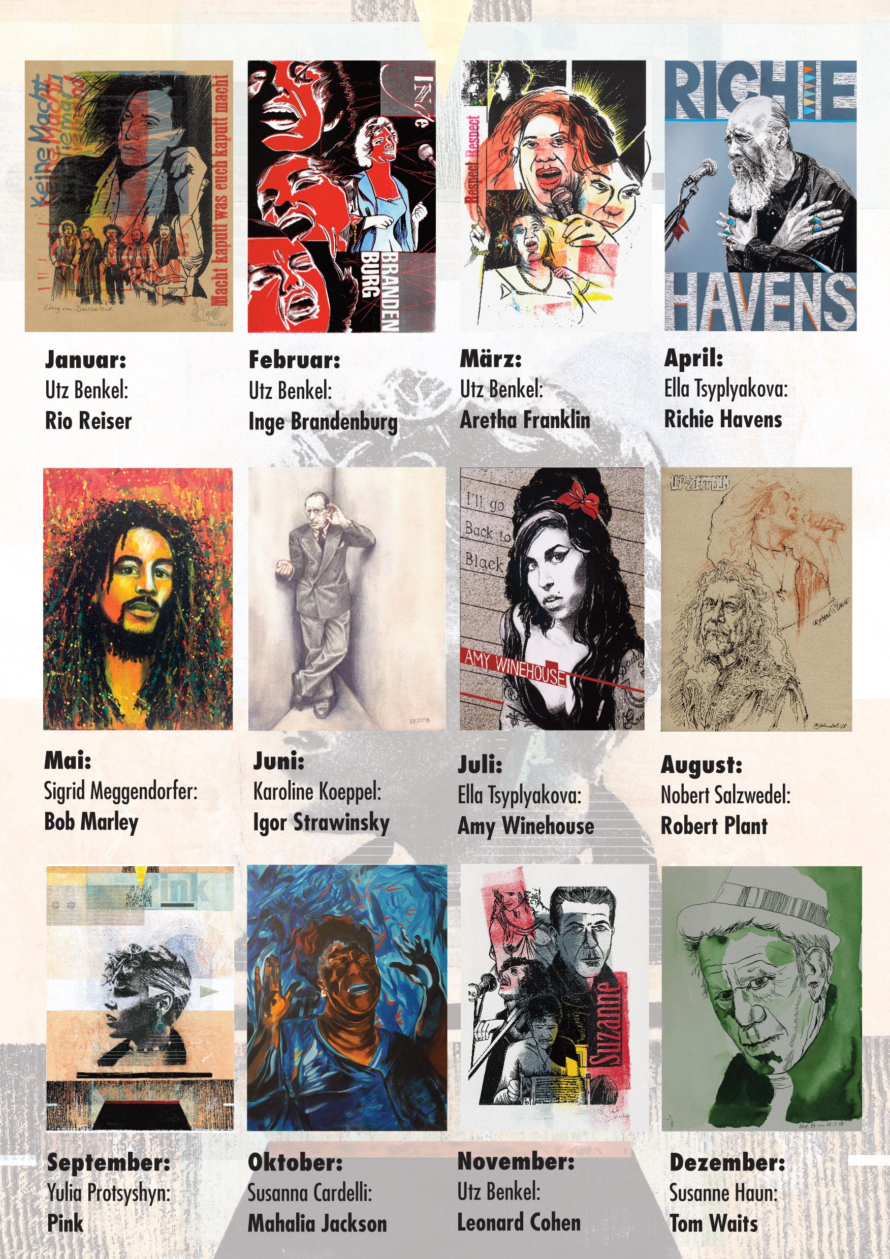 Die Wilde 13 - Musikerinnen Kalender im Utz Benkel Verlag