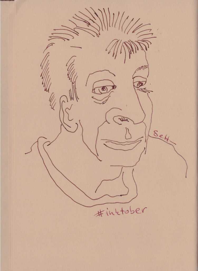 Portrait aus dem Skizzenbuch - Zeichnung von Susanne Haun (c) VG Bild-Kunst , Bonn 2018