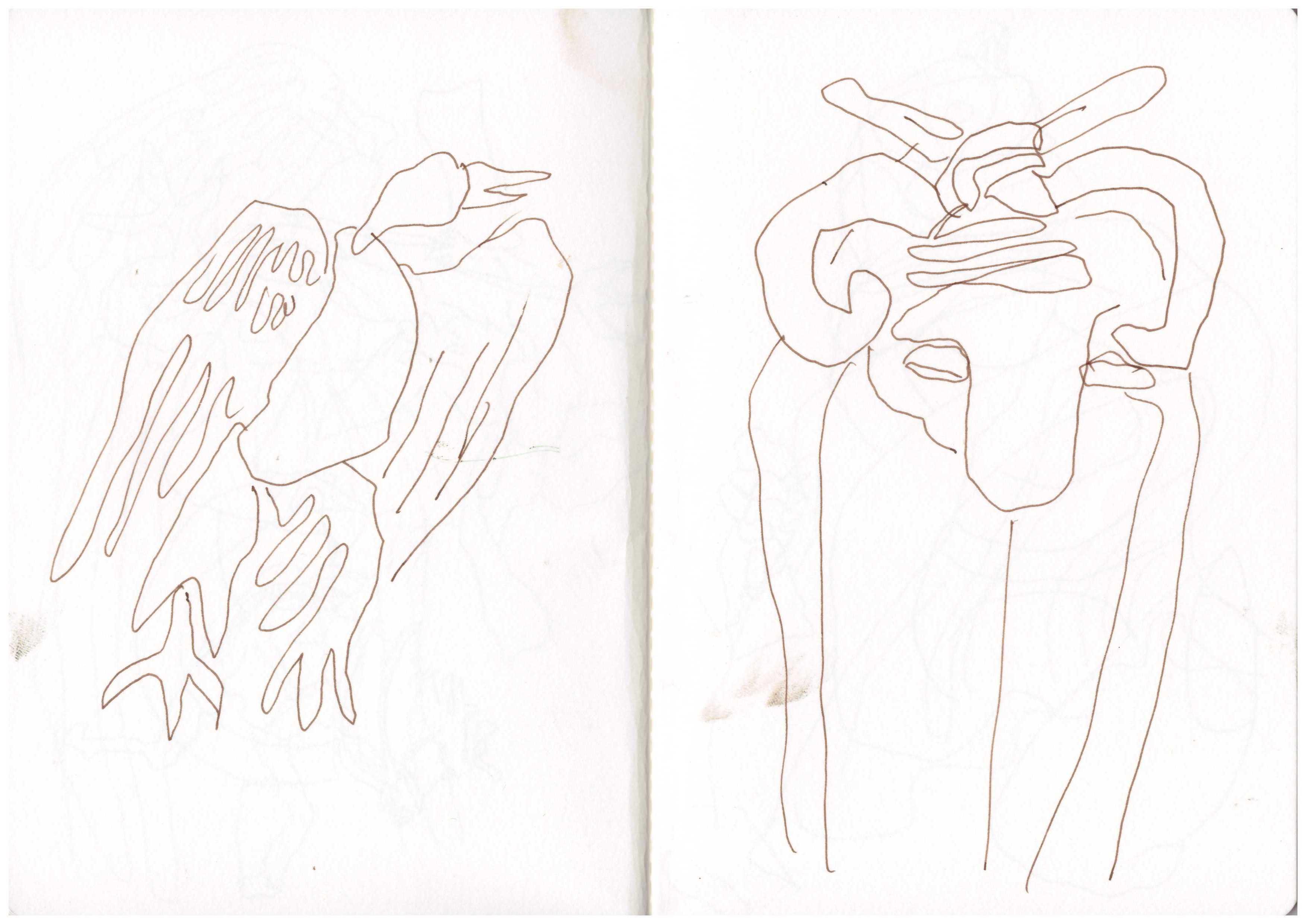Rom - Ostia Antica - Zeichnung von Susanne Haun (c) VG Bild Kunst, Bonn 2018