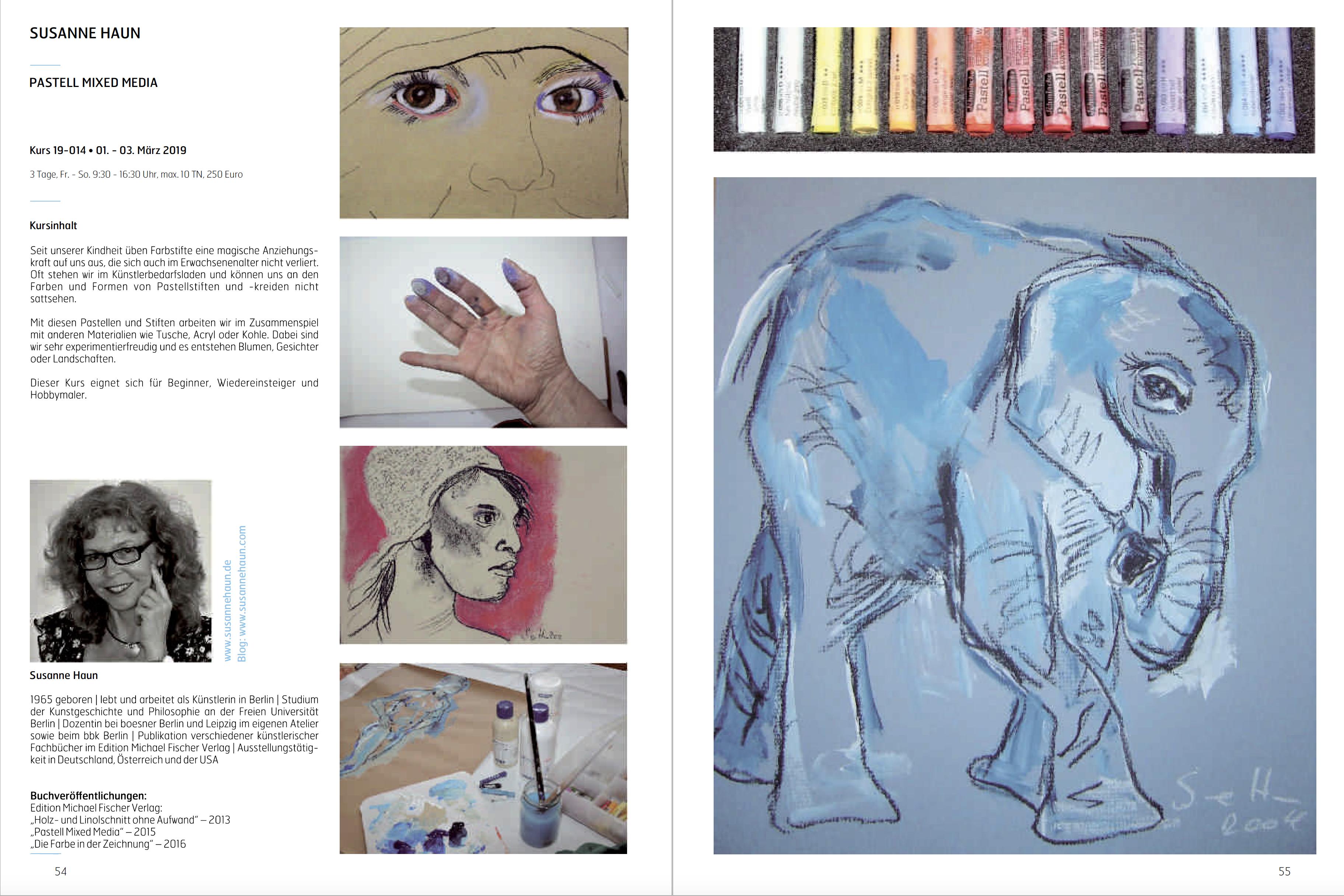Kunstfabrik Hannover - Pastell Mixed-Media - Dozentin Susanne Haun