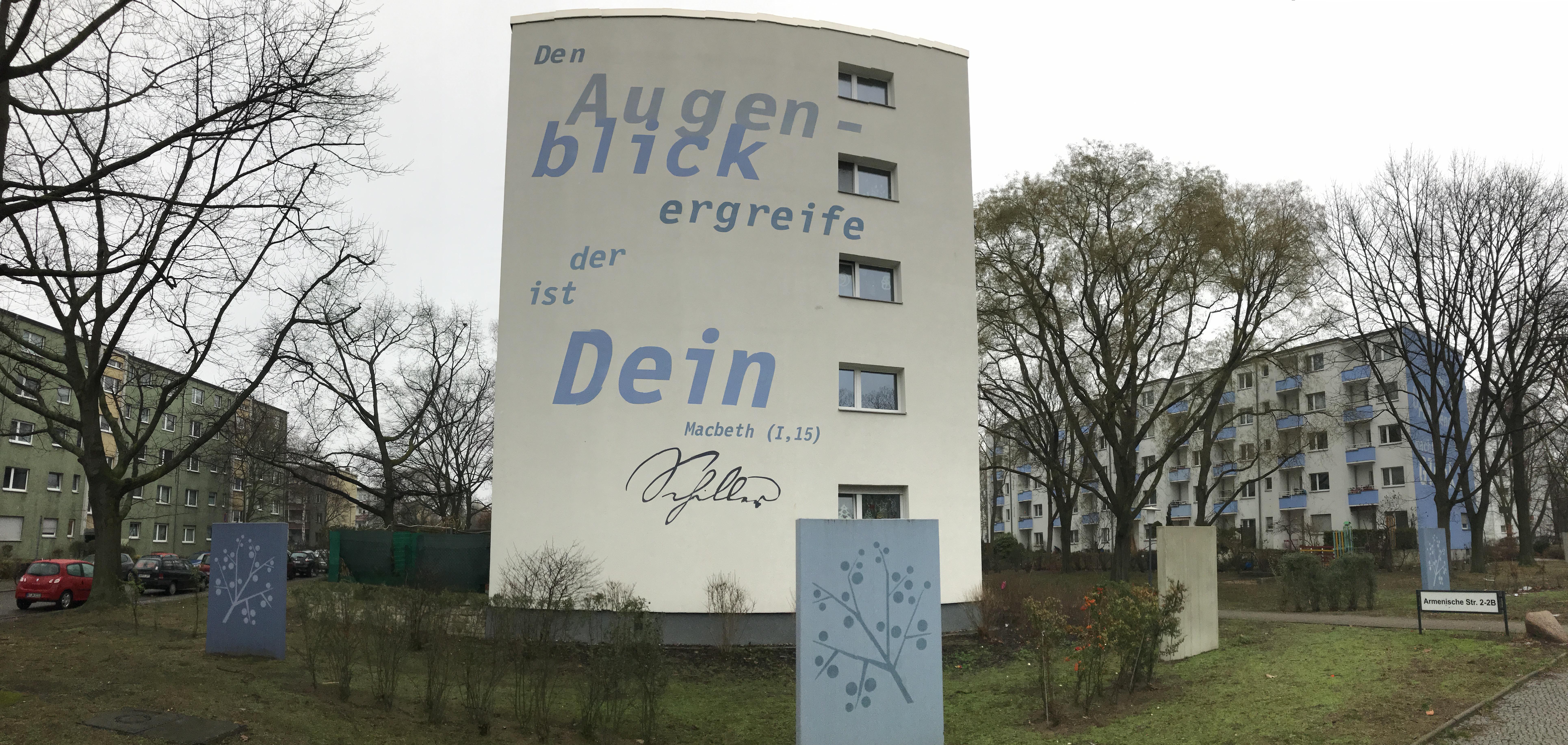 Den Augenblick ergreife, Armenische Str. 2, Berlin, Foto von Susanne Haun (c) VG Bild-Kunst, Bonn 2019