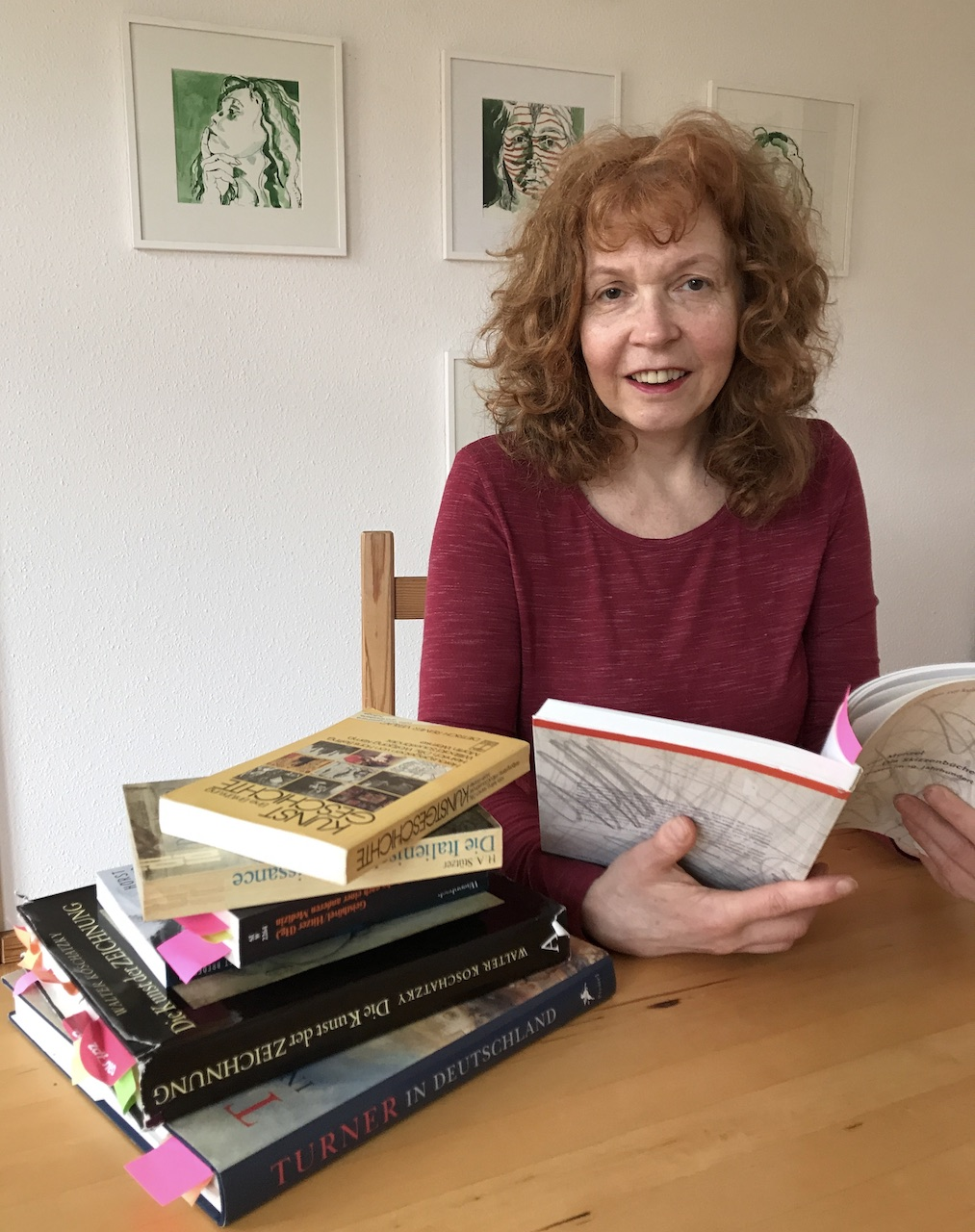 Susanne Haun, lesen am Sonntag Morgen (c) Foto von M.Fanke