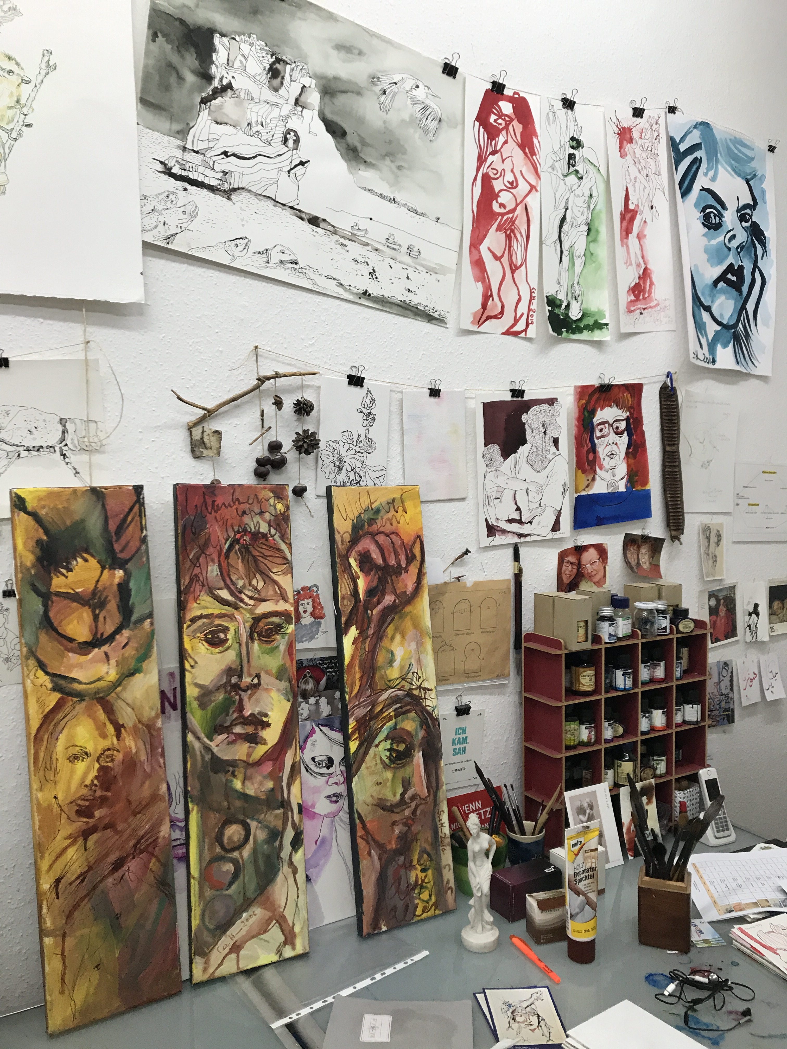Weltverbessern - Gemälde auf Leinwand von Susann Haun (c) VG Bild-Kunst, Bonn 2019