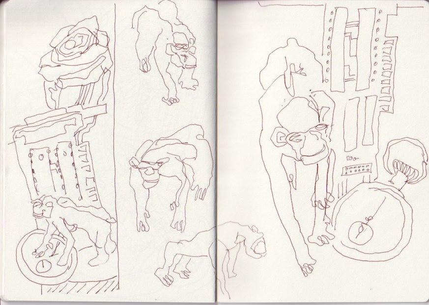 Evolution, aus dem Skizzenbuch von Susanne Haun (c) VG Bild-Kunst, Bonn 2020