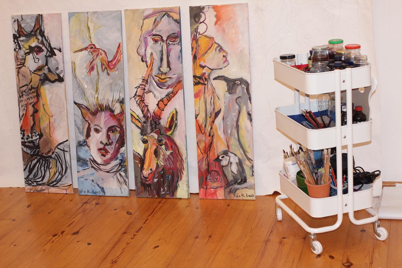 Im Atelier Susanne Haun (c) VG Bild-Kunst, Bonn 2020