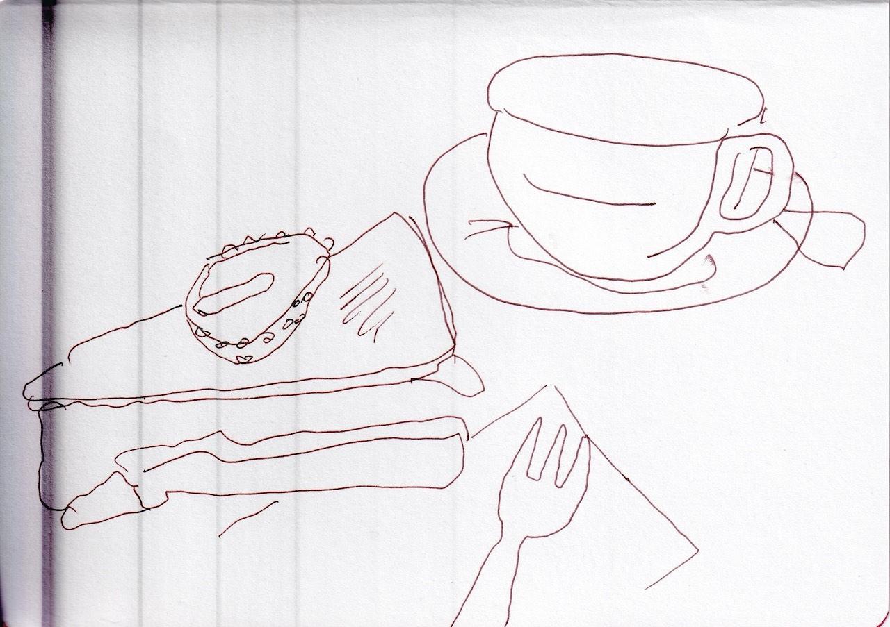 Baisertorte, Zeichnung von Susanne Haun (c) VG Bild-Kunst, Bonn 2020