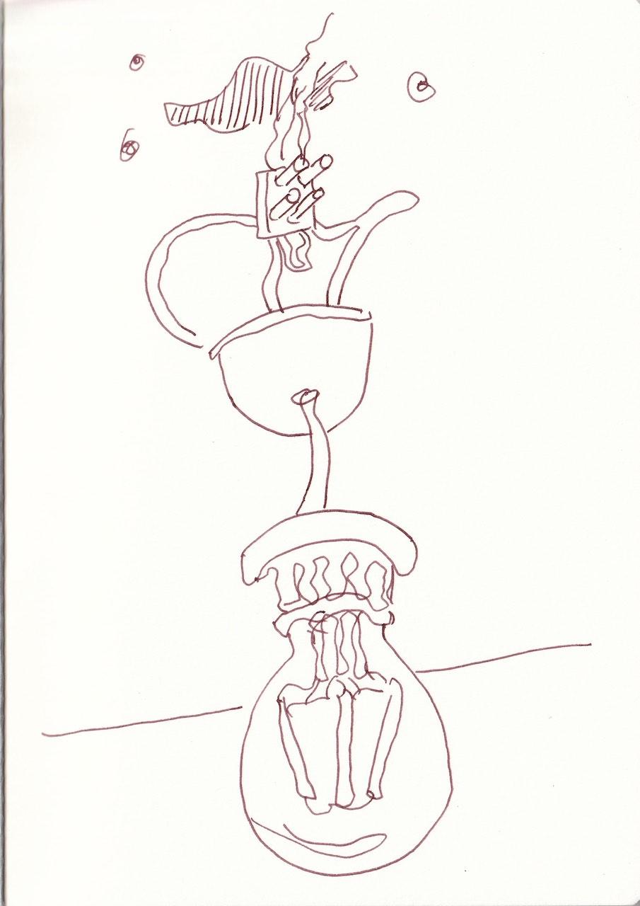 Renovieren, Zeichnung von Susanne Haun (c) VG Bild-Kunst, Bonn 20207