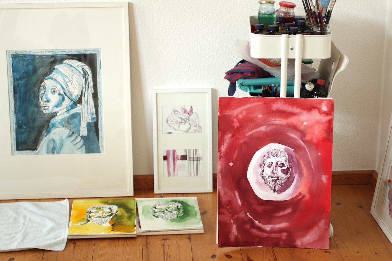 Heraklit 1 bis 3 im Größenvergleich (c) Atelier Susanne Haun