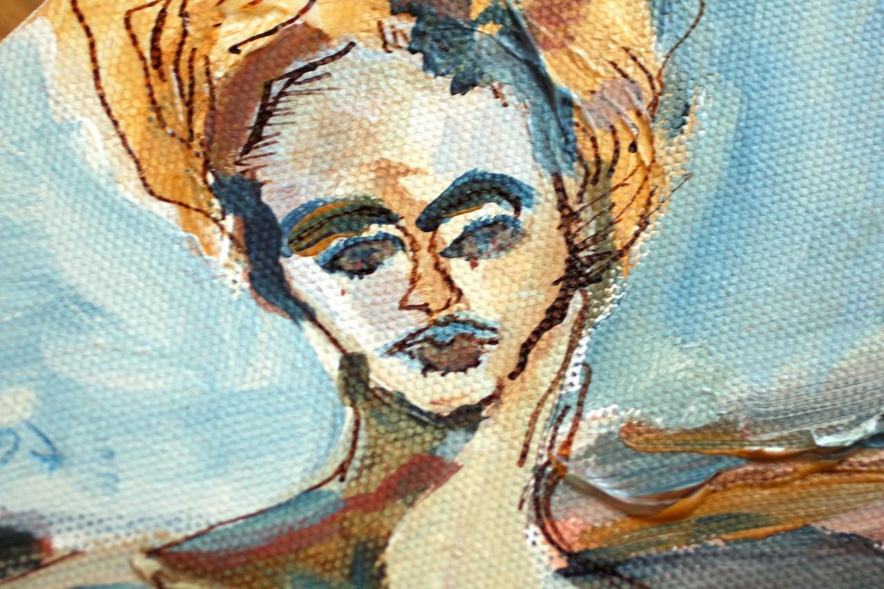 Ausschnitt - Durch das Auge des Herbstes, Acryl und Tusche auf Leinwand, 30 x 24 cm, Malerei von Susanne Haun (c) VG Bild-Kunst, Bonn 2020