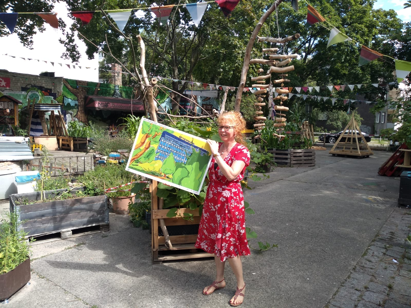 Susanne Haun und ihre ausgewählte Arbeit La vie en vert (c) Foto von Alexandre