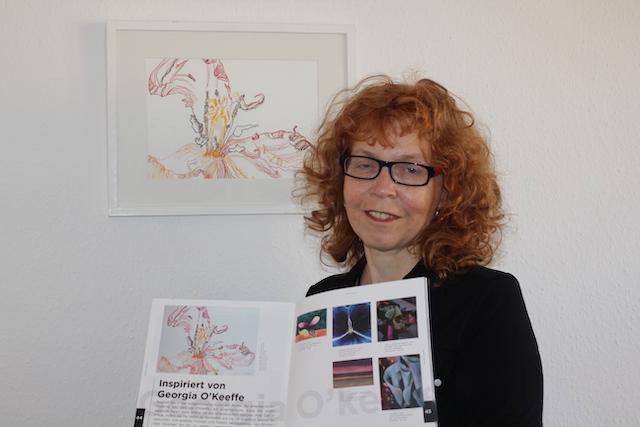 Susanne Haun im Katalog der Pariser Galerie Singulart, Foto selbst (c) VG Bild-Kunst, Bonn 2020