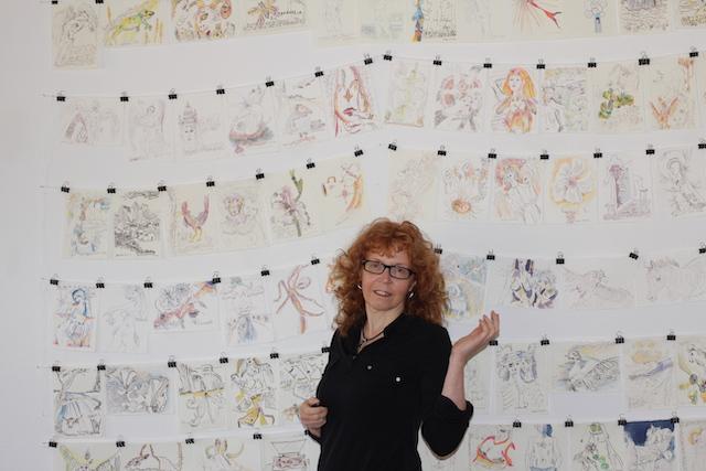 Susanne Haun in ihren Tagebucheintragungen, Foto selbst (c) VG Bild-Kunst, Bonn 2020