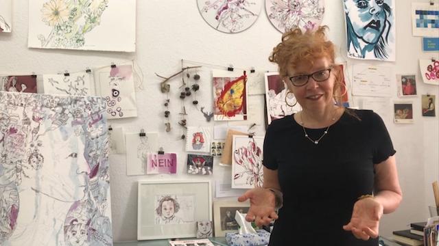 Susanne Haun in ihrem Atelier in Berlin Mitte (c) Foto von M.Fanke