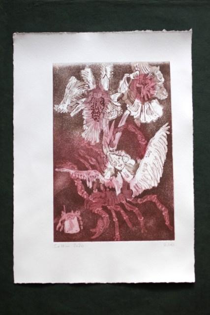 2-10, Auch Engel lassen sich gerne tragen, 29,5 x 19,5 cm, 38,5 x 26 cm, Hahnemühle 300g, weiß matt, Kuperdruckpapier, Aquatinta von Susanne Haun