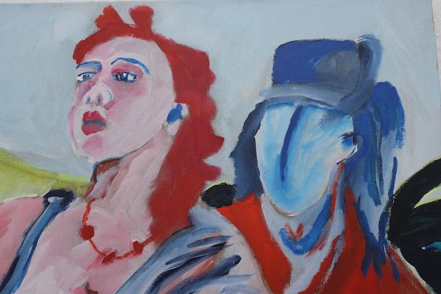 La madonna vigile., Gemälde auf Leinwand von Susanne Haun (c) VG Bild-Kunst, Bonn 2020