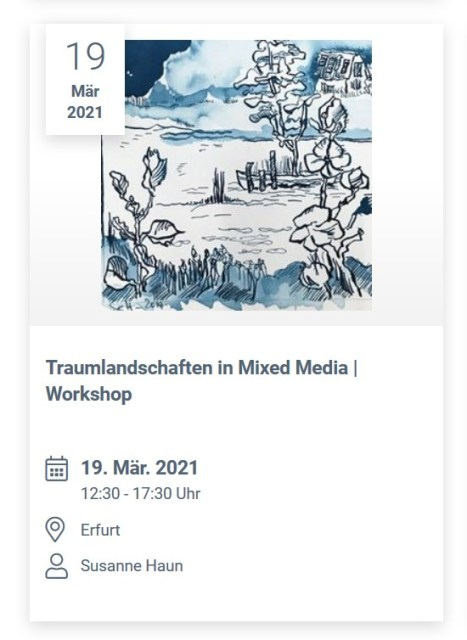 Boesner Erfurt - Traumlandschaften in Mixed Media - Dozentin Susanne Haun