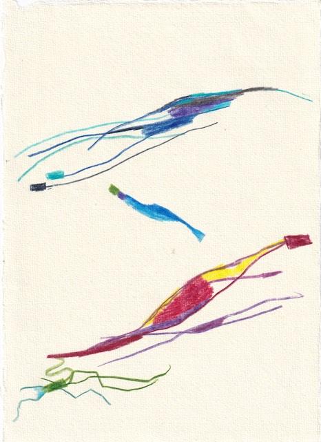 Tagebucheintrag 12.01.2021, Dancing in LaLaLand, 20 x 15 cm, Tinte und Aquarell auf Silberburg Büttenpapier, Zeichnung von Susanne Haun (c) VG Bild-Kunst, Bonn 2021