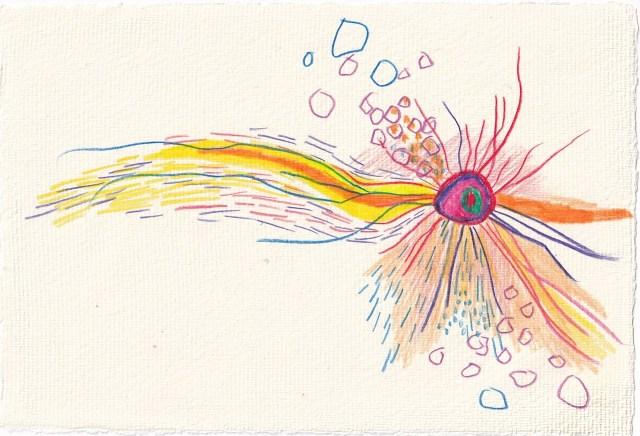 Tagebucheintrag 21.03.2021, Waiting for, Version 5, 20 x 15 cm, Tinte und Aquarell auf Silberburg Büttenpapier, Zeichnung von Susanne Haun (c) VG Bild-Kunst, Bonn 2021